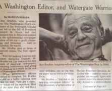 Newspaper Icon Ben Bradlee 1921-2014